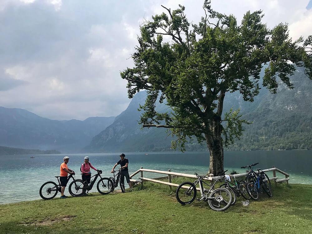 HourAway Best cyclying tours in Slovenia Bohinj Lake