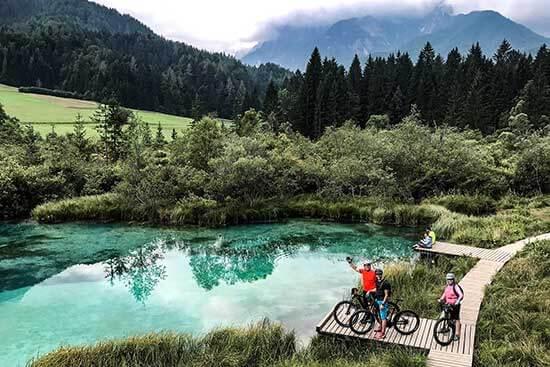 HourAway mountain biking holidays in Slovenia Emerald green Zelenci natural reserve