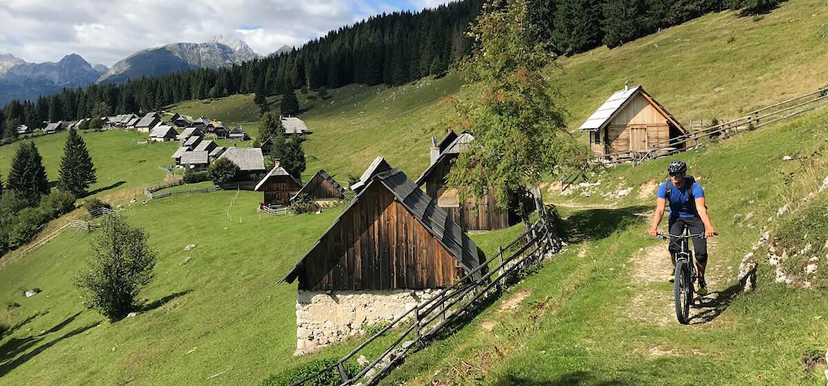 Bike and hike holidays Slovenia cycling on Zajamniki Pokljuka plateau