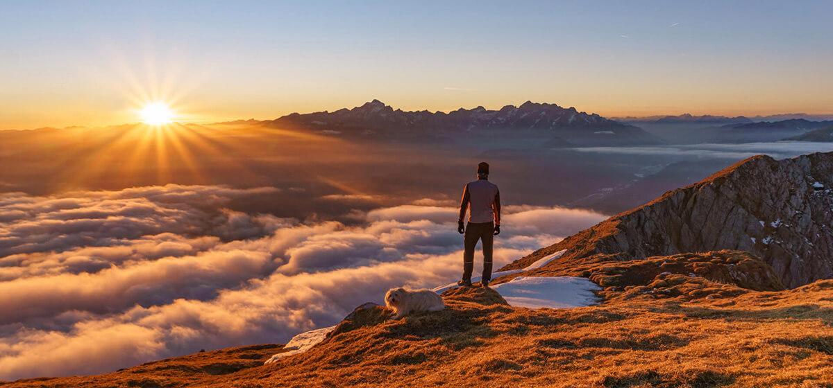 Bike and hike holidays Slovenia hiking mountains with a view