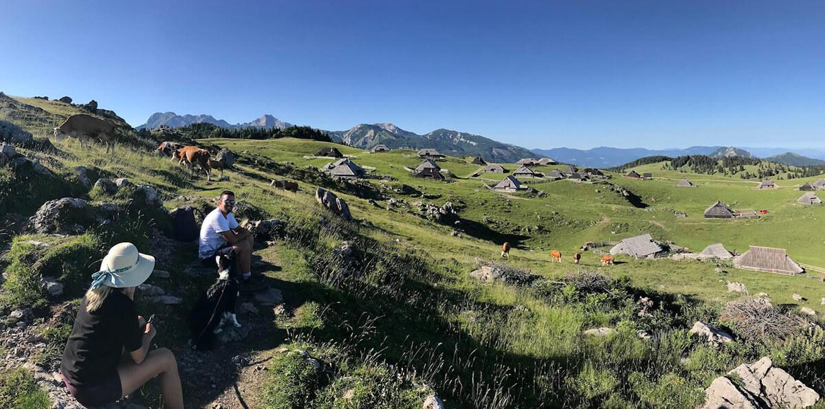 Bike and hike holidays Slovenia hiking on Velika Planina